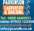Logo of Parkinson Carpentry And Building
