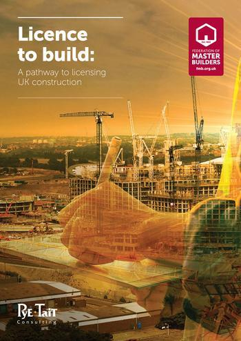 Front cover of FMB report Licence to build