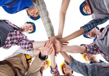 Group of builders