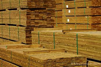 Image of treated wood
