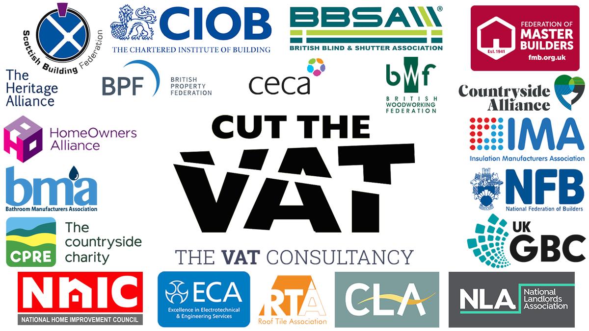 Cut the VAT infographic