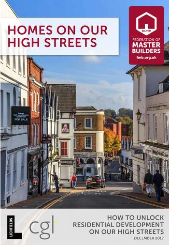 Front cover of FMB report Homes on our High Street