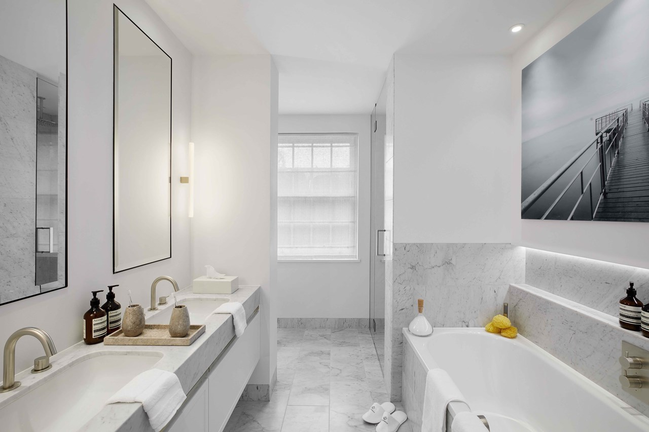 Image of a new bathroom