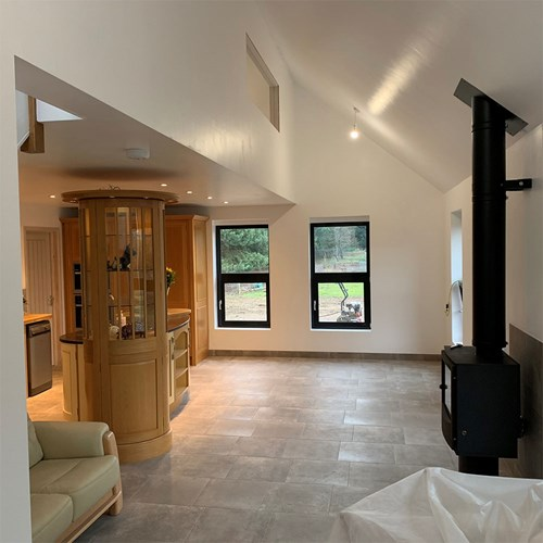 Images of converted barn interior